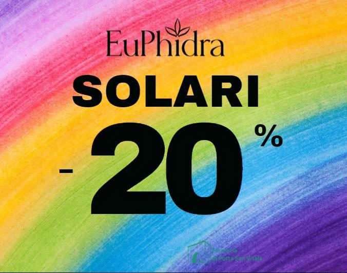 PROMOZIONE SOLARI EUPHIDRA